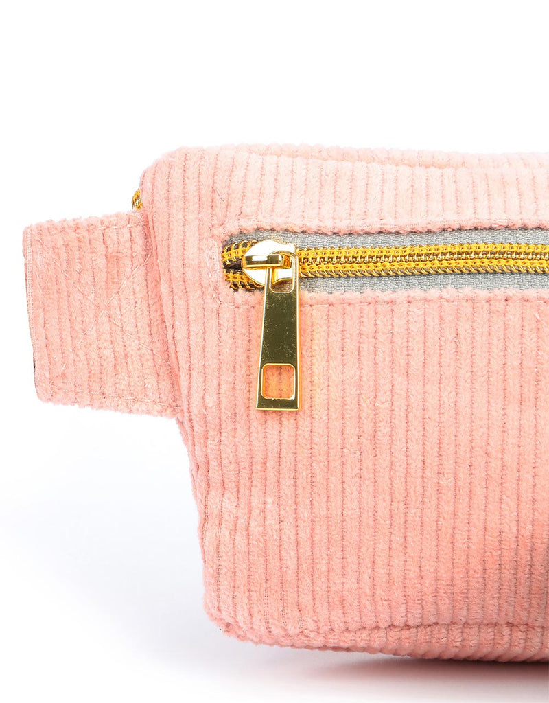Mi-Pac Corduroy Bum Bag - Blush