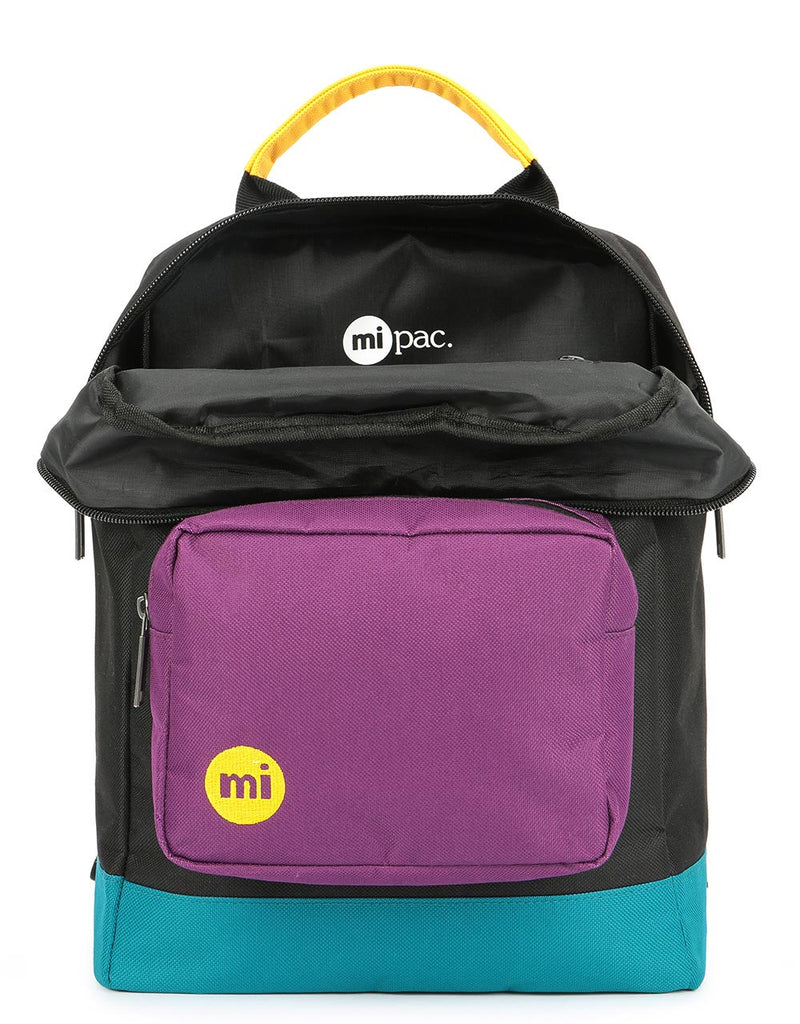 Mi-Pac Decon Colour Block Tote Backpack - Black/True Plum