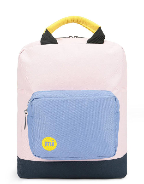 Mi-Pac Decon Colour Block Tote Backpack - Blush/Cornflower Blue