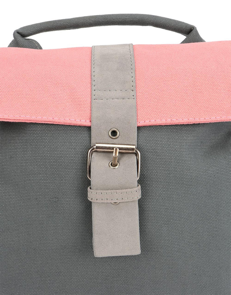 Mi-Pac Contrast Canvas Mini Day Pack - Charcoal/Rose