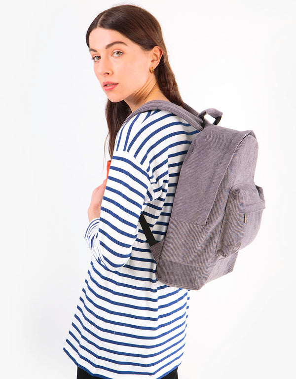 Mi-Pac Corduroy Backpack - Grey