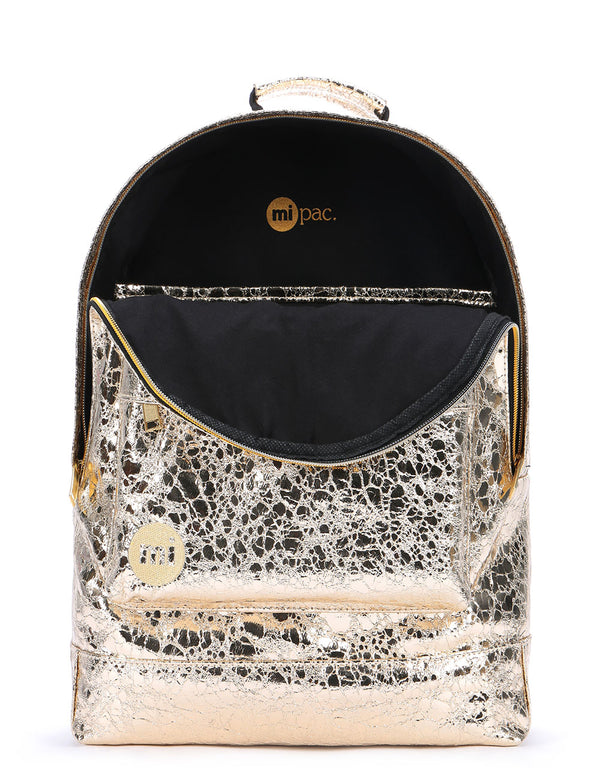 Mi-Pac Gold Backpack - Metallic Gold Leaf
