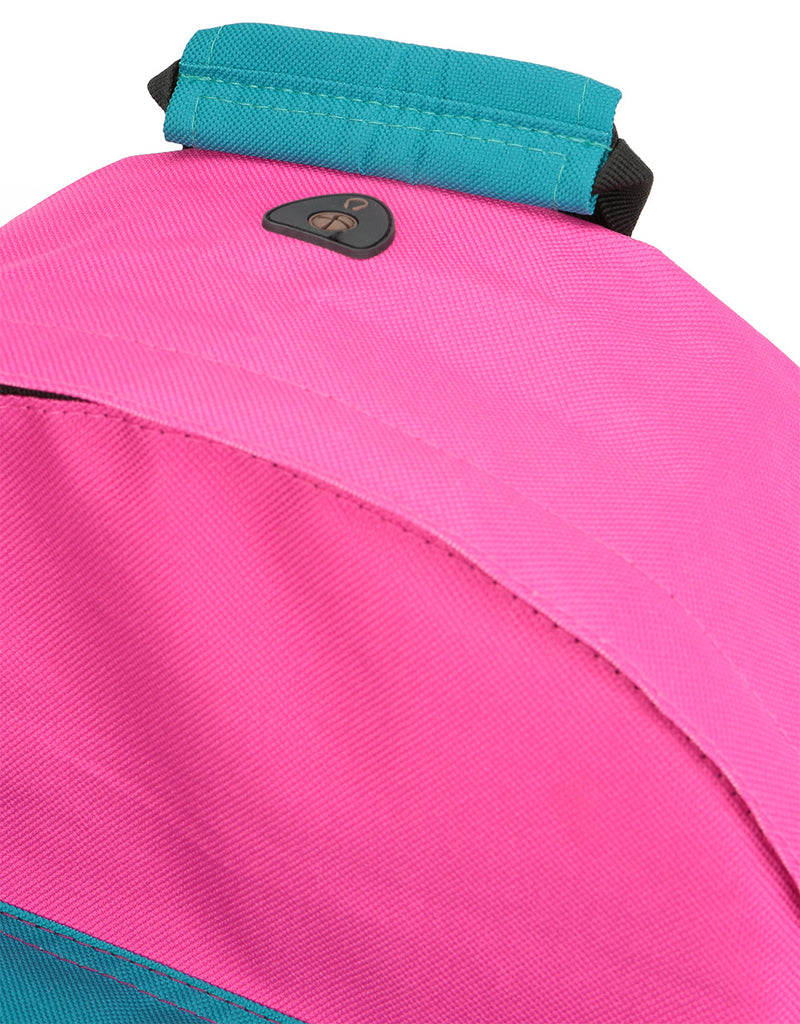 Mi-Pac Colour Block Backpack - Begonia Pink/True Plum