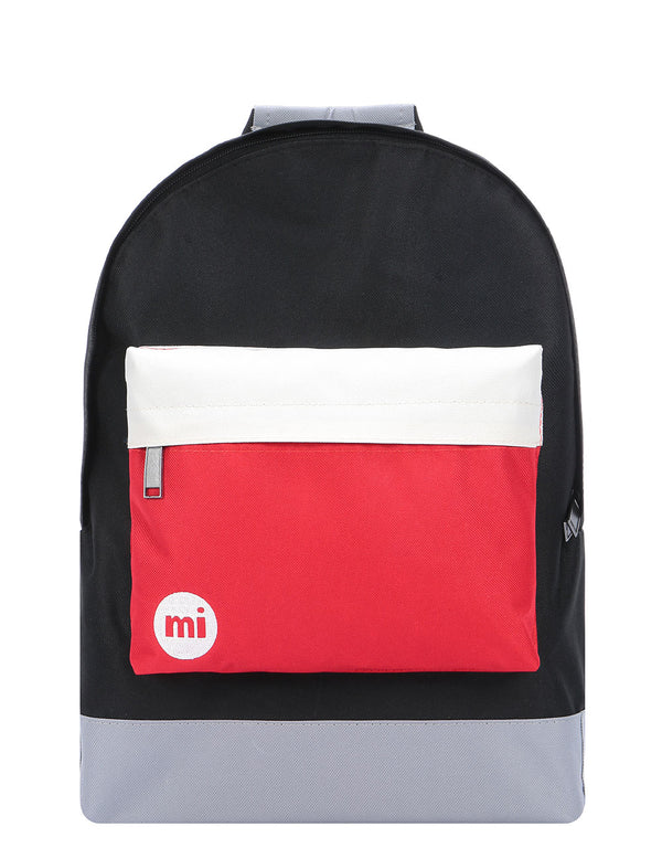 Mi-Pac Colour Block Backpack  - Black/Red