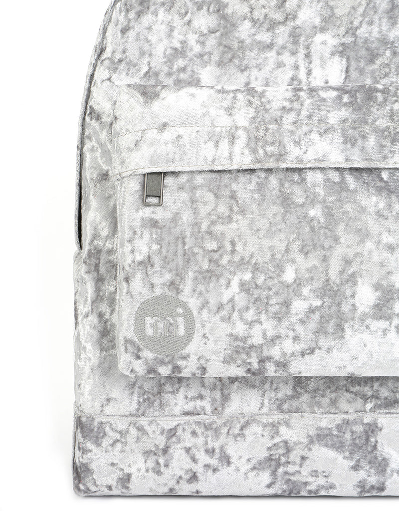 Mi-Pac Crushed Velvet Backpack - Grey