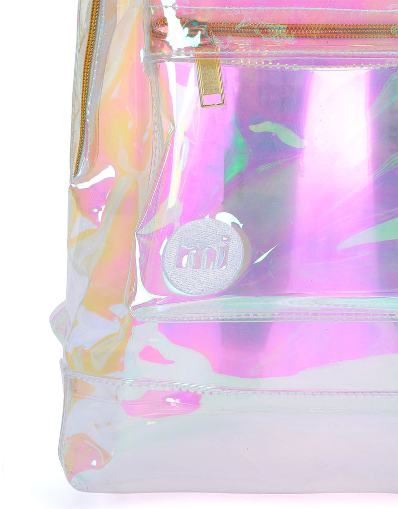 Mi-Pac Mini Gold Transparent Backpack  - Iridescent