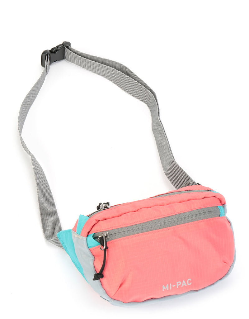 Mi-Pac Nylon Ripstop Hip Pack - Cantaloupe/Mint/Grey
