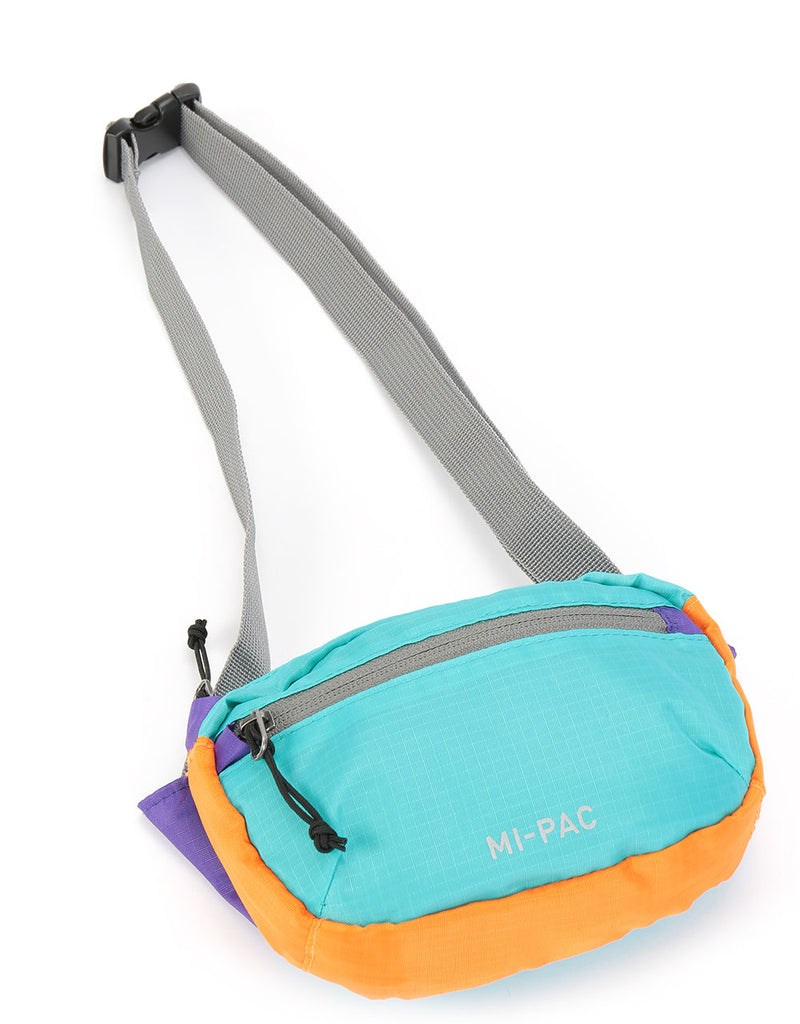 Mi-Pac Nylon Ripstop Hip Pack - Mint/Purple/Orange