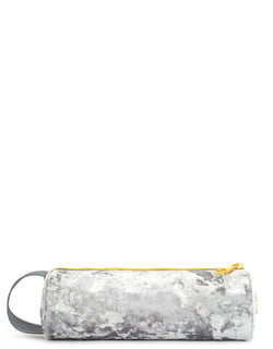 Mi-Pac Gold Crushed Velvet Pencil Case - Grey