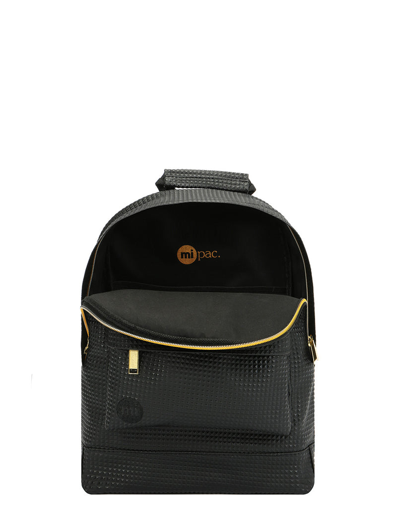 Mi-Pac Gold Microprism Mini Backpack - Black