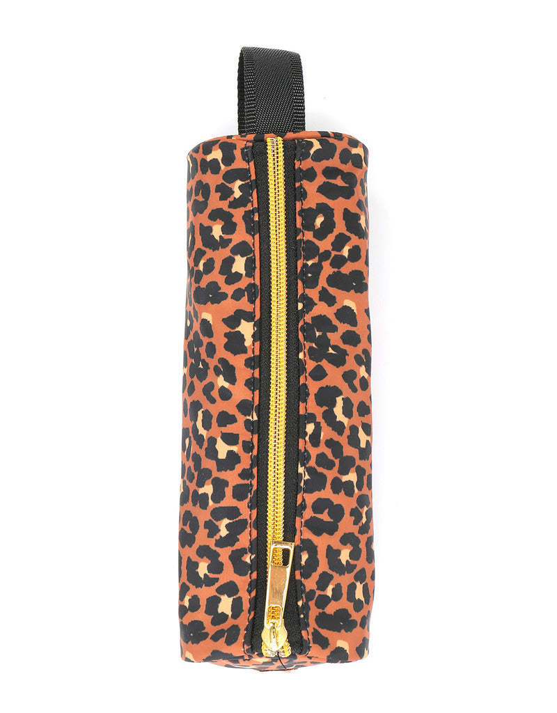 Mi-Pac Gold Nylon Pencil Case - Leopard