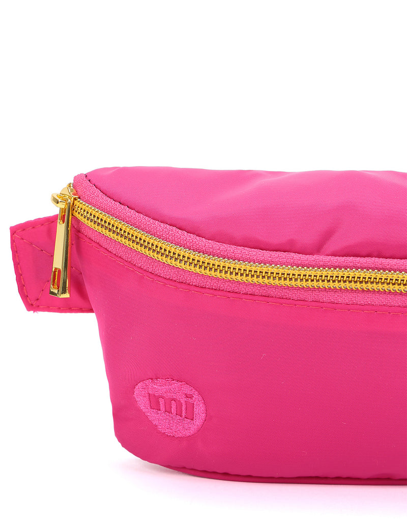 Mi-Pac Gold Nylon Slim Bum Bag - Hot Pink