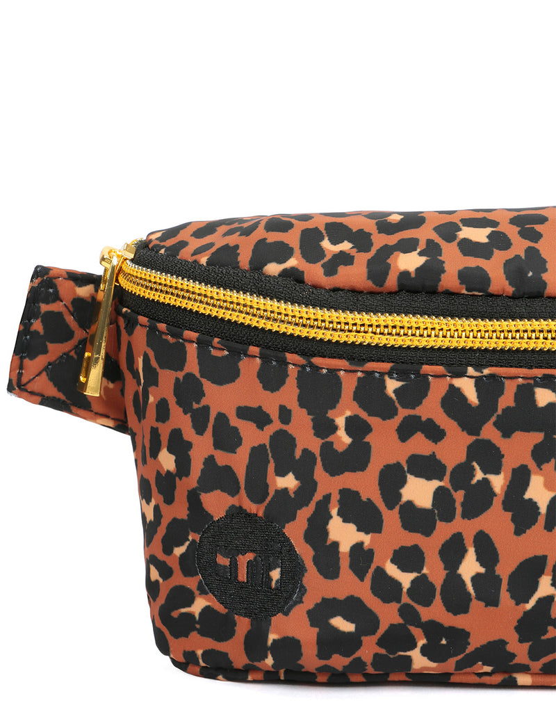 Mi-Pac Gold Nylon Slim Bum Bag - Leopard