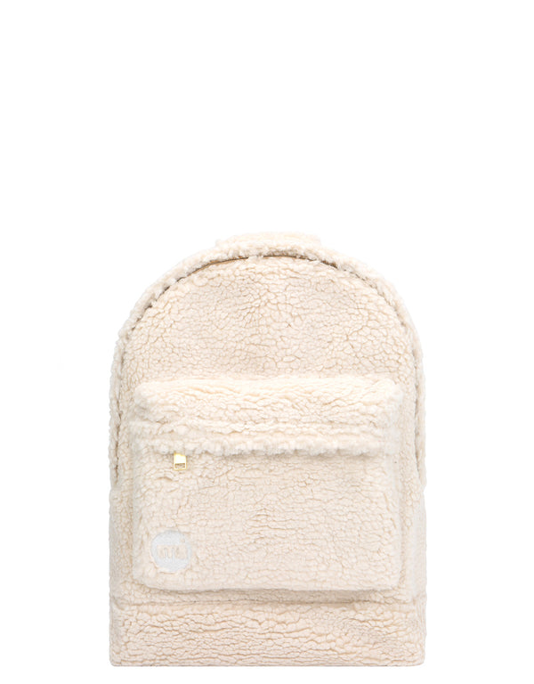 Mi-Pac Gold Shearling Mini Backpack - Natural
