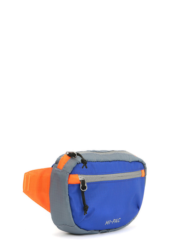 Mi-Pac Nylon Ripstop Hip Pack - Blue/Orange/Grey
