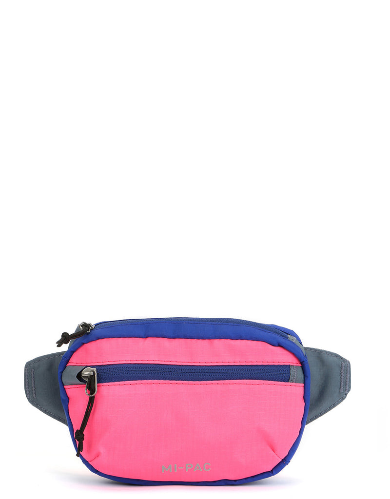 Mi-Pac Nylon Ripstop Hip Pack - Pink/Grey/Blue