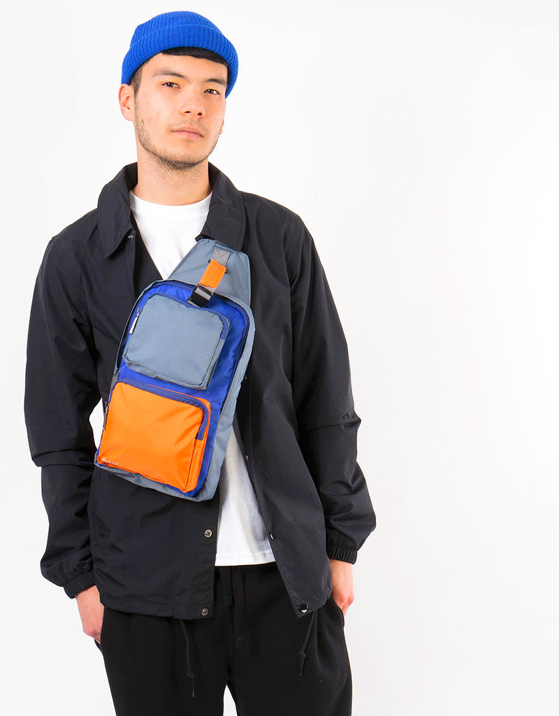 Mi-Pac Nylon Ripstop Task Bag - Blue/Grey/Orange