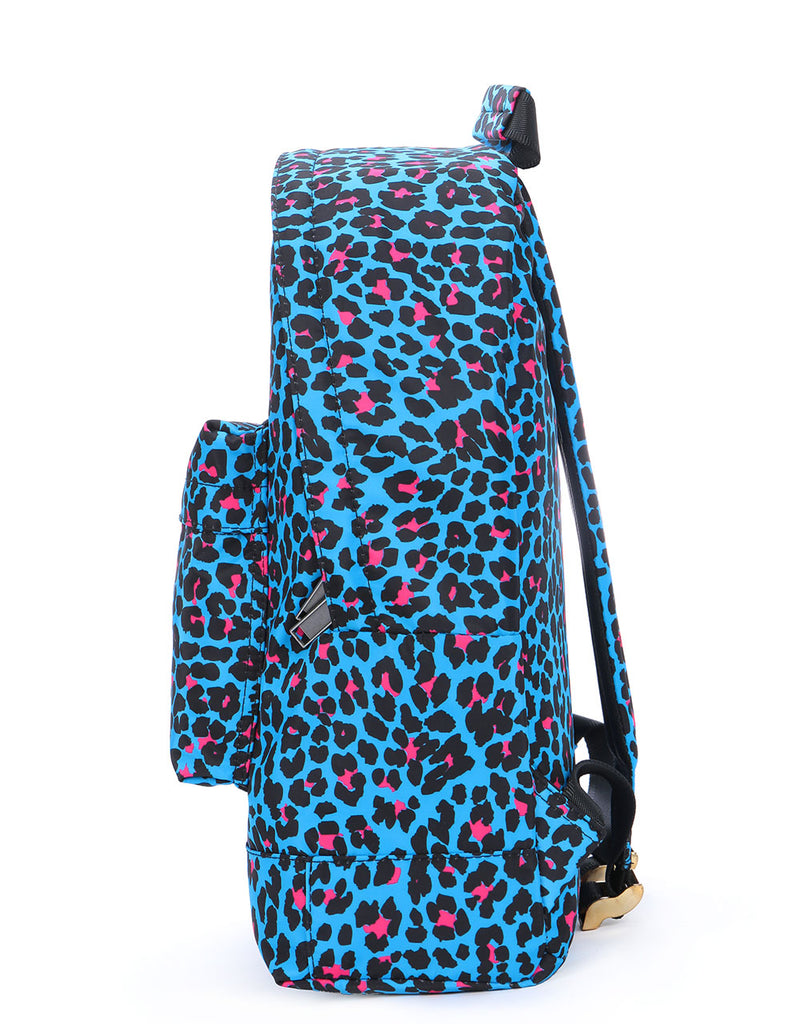 Mi-Pac Nylon Backpack -  Leopard Cyan/Pink