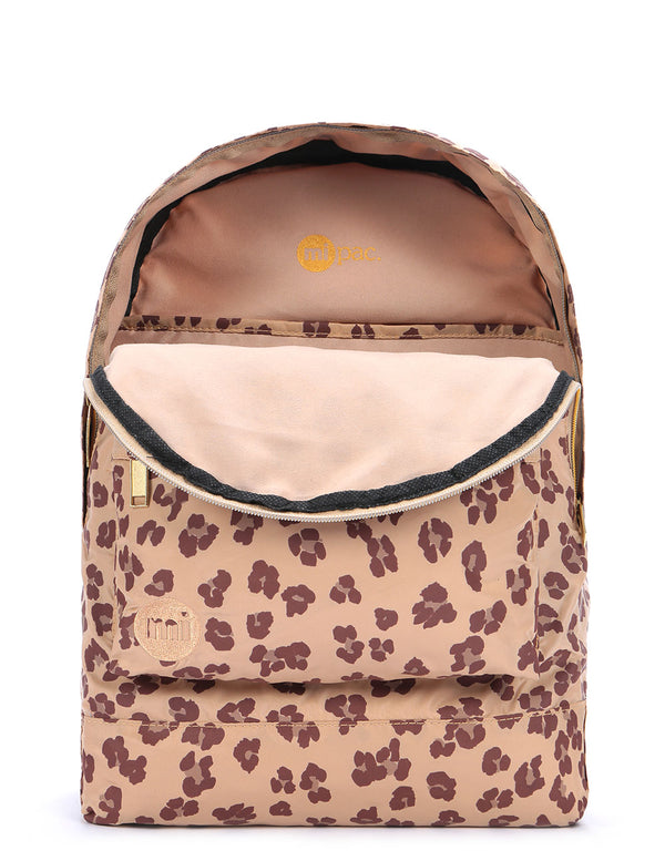 Mi-Pac Nylon Backpack -  Leopard Natural