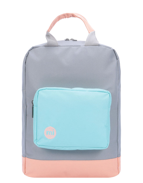 Mi-Pac Decon Colour Block Tote Backpack - Grey/Neo Mint