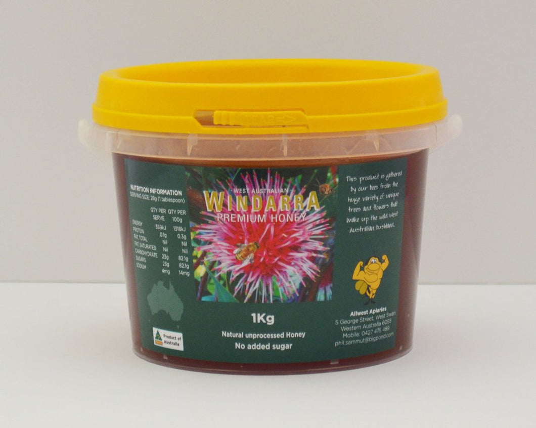 MANJIMUP HONEY 1 Kg NETT TUB