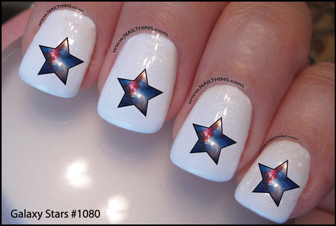 Galactic Star Nail Decal Galaxy Star System NAILTHINS Nail Designs