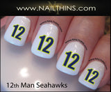 Seattle Seahawks Nail Decal NAILTHINS Seahawks nail designs