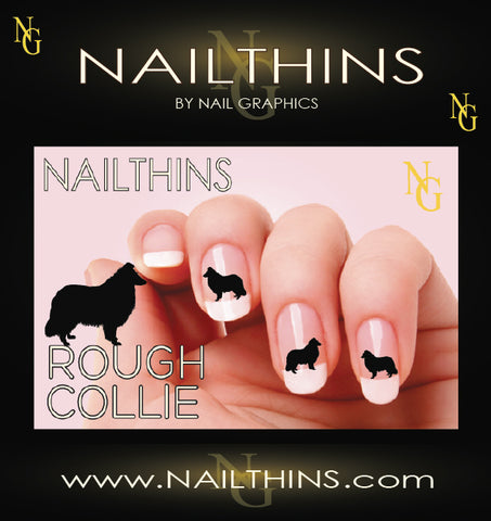 Collie, Rough Collie NAILTHINS Silhouette Nail Decal