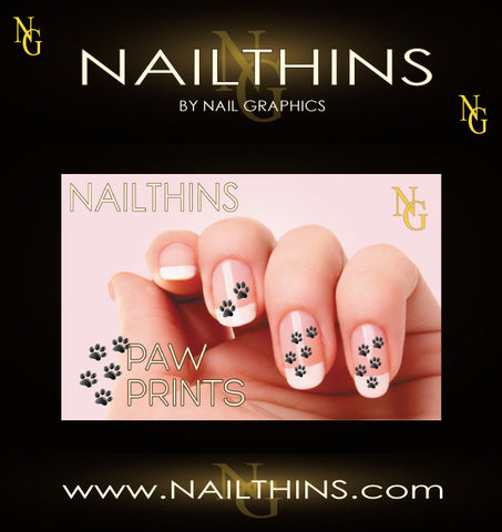Canine Dog Prints Animal Tracks- Paw Prints NAILTHINS Nail Decal