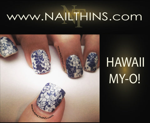 Hawaii My-O! Nail Designs NAILTHINS Nail decal Nail Art Nail transfer
