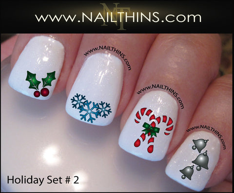 Holiday Nail Decal Set No. 2 Christmas  Nail Art by NAILTHINS