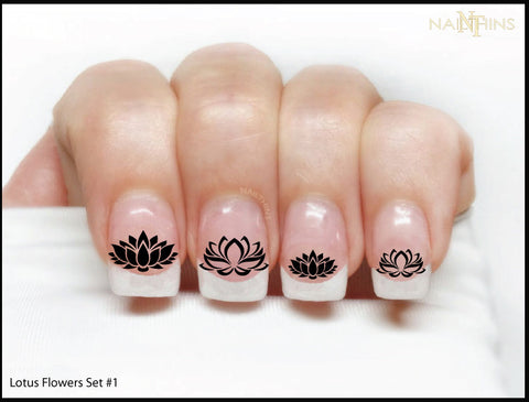 Lotus Flower nail decals by NAILTHINS design set #1