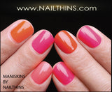 MANISKINS 56 Clear nail armor protectors,  Ultra thin, and flexible by NAILTHINS