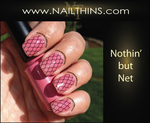 Nothin' but Net Nail Decals Full Nail Wrap Fishnet Nail designs NAILTHINS