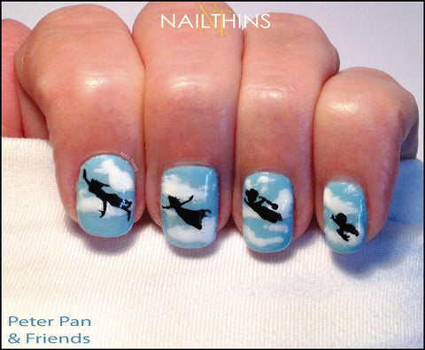 Peter Pan Nail Decal Silhouettes by Nailthins