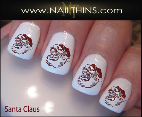 Santa Nail Decals Santa Claus Holiday Nail Art by NAILTHINS