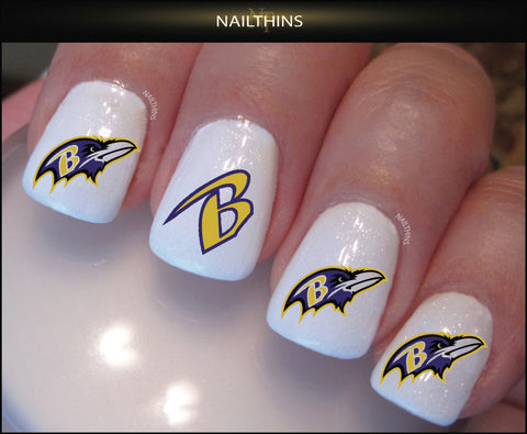 Baltimore Ravens Nail Decal by NAILTHINS