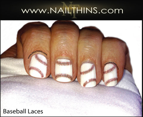 Baseball Laces Nail Decal NAILTHINS Base Ball nail designs