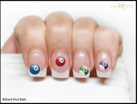Billiard Ball Nail Decal Pool Ball Nail Art Design by NAILTHINS