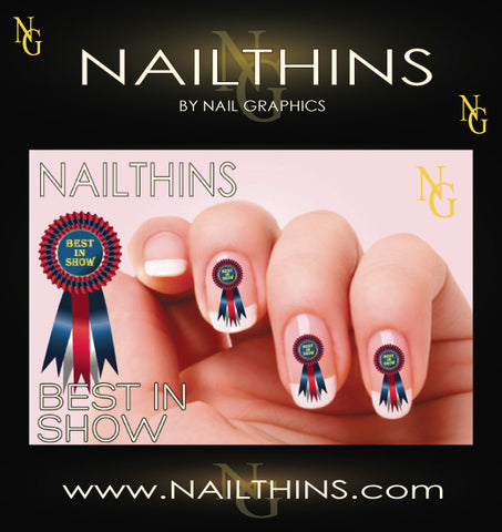 BEST IN SHOW NAILTHINS  Rosette Nail Decal Nail Art Designs