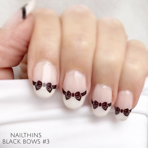 Black Bows Nail Decal Set #3 nail art by NAILTHINS