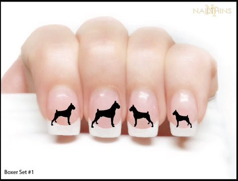 Boxer NAILTHINS Silhouette Nail Decals Nail Art Transfer Designs