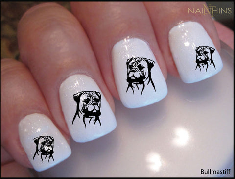 Bullmastiff Nail Decal designs by NAILTHINS