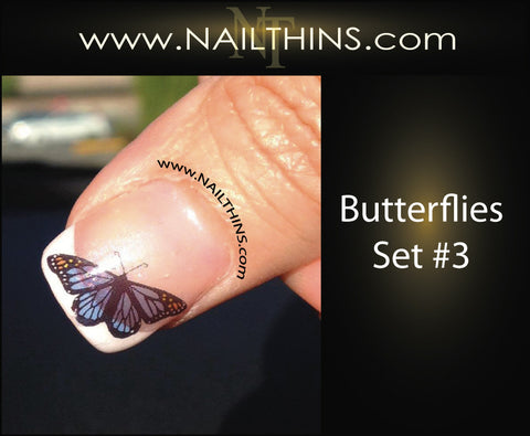 Butterflies Nail Decal  NAILTHINS Nail Art, Nail Design
