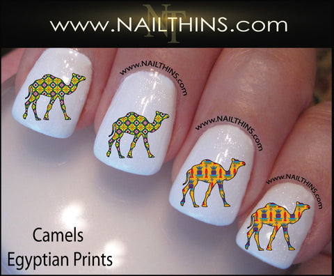 Camel Nail Decals Egyptian Print Camel Nail Art by NAILTHINS