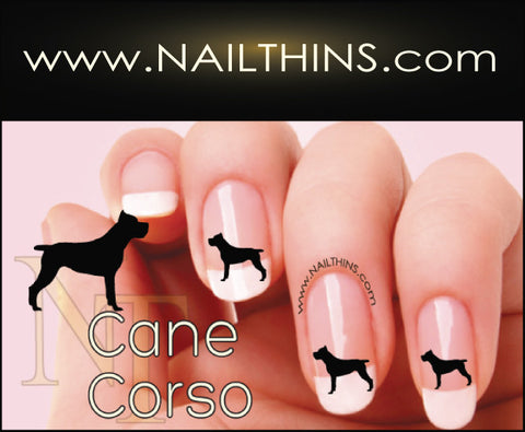Cane Corso NAILTHINS Silhouette Nail Decals