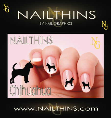 Chihuahua NAILTHINS Silhouette Nail Decals