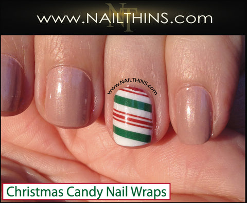 Christmas Candy Nail Decal Full Nail Wraps  by NAILTHINS