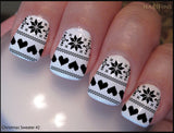 Christmas Sweater Nail Decal Designs Set #2 by NAILTHINS
