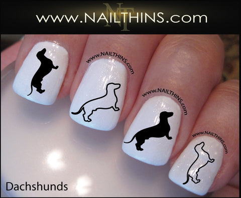 Dachshund Nail Decal Weiner Dog Nail Design NAILTHINS